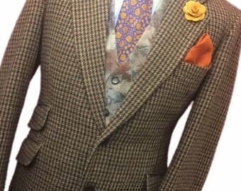 Hardy Amies Tailored By Hepworths 42 Regular Superb Vintage Country Brown Tweed Sports/Hacking jacket