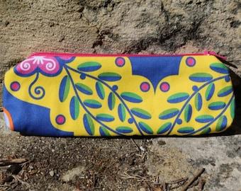 Portuguese Flowers Australian Made Pencil Case
