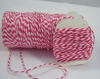 FULL SPOOL - Bakers Twine - 100% Cotton - Twinery - Pink Sorbet - 240 Yards