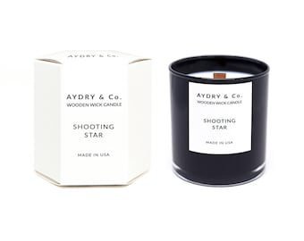 Shooting Star Wooden Wick Candle