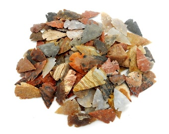"Jasper Arrowhead - Bag Of 100 Arrowheads - 1"" Jasper Arrowheads Wholesale  (RK165B11(100QTY))"