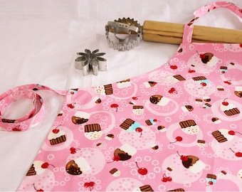 Tossed Cupcake Youth Size Apron