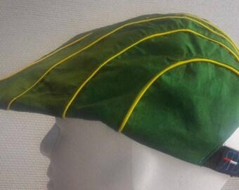 platte pet model XIII groen/geel