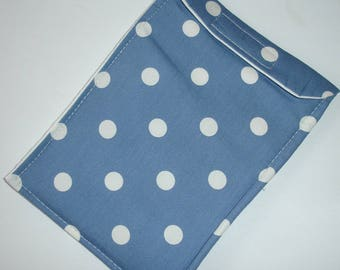 Mobile Cell Phone iPhone 6 Cozy Sleeve Spots White Polka Dots Indigo Blue