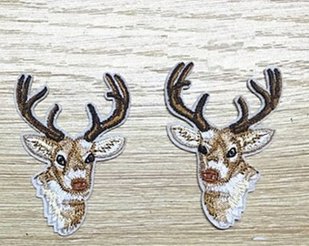 Wholesale bulk lot  60pcs   reindeer  embroidered   iron  on patch  DIY  6x4.3cm