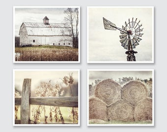 Farmhouse Decor Rustic Country Set of 4 Modern Farmhouse Decor Rustic Decor Primitive Country Farmhouse Wall Decor Prints or Canvas Wall Art