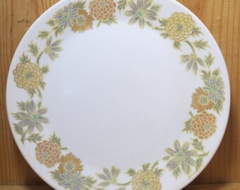 Vintage, Noritake China, Sunny Side, Bread and Butter Plates, 6 inch, Progression, Japan, 9003, US Design Pat 207730, Set of Four