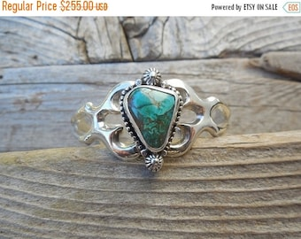 ON SALE Turquoise bracelet handmade in sterling silver 925