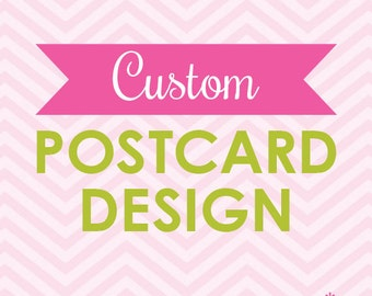 Custom Promotional Postcard Design Printable (Digital File)