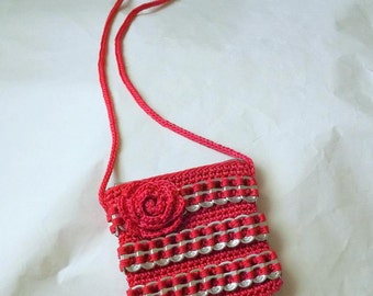 Pop Tab Purse - Pink Flower