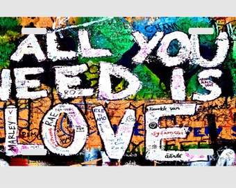 All You Need Is Love - The Beatles - Graffiti - License Plate