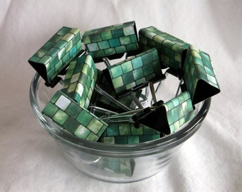"Binder Clips - ""Jade Tile"""