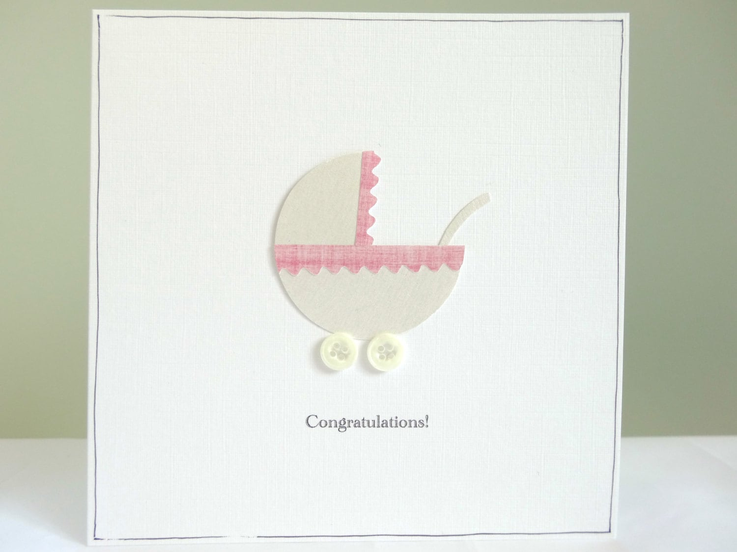 Personalised baby card new baby congratulations card baby zoom kristyandbryce Image collections