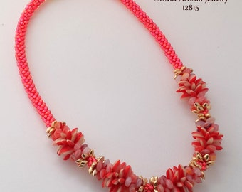 """TUTORIAL ONLY - """"Mango Madness"""" Kumihimo Necklace"""