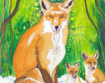 Fox, Animal Guide Art