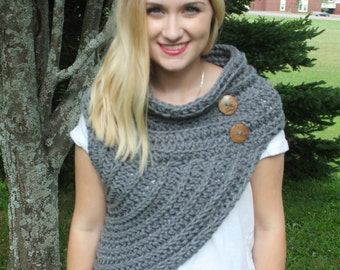 Huntress Vest/ Crochet/ Handmade/ Crossbody Cowl/ Katniss/ Vest/ Trendy/ Unique