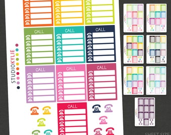 Call Planner Stickers  - Removable Matte Vinyl -
