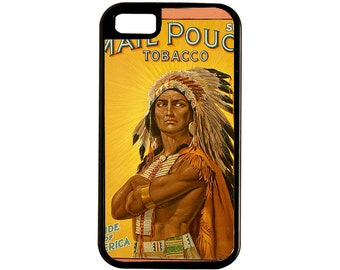 Native American In Head Dress On This Mail Pouch Tobacco Poster iPhone Case 4, 4s, 5, 5C, 6, 6+ and Samsung Galaxy 3, 4, 5, 6, Edge