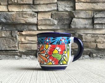 Talavera café ou thé tasse peinte à la main