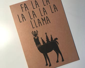 ClemmieLouCards -Fa La La La La LA La Llama  - Christmas/Holiday card