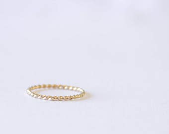 Twist Ring, Simple, Dainty, 14k Gold Filled or Sterling Silver