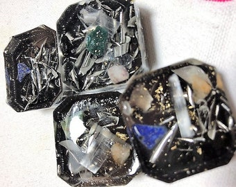 Small,pocket-sized,personal,cubed orgonite