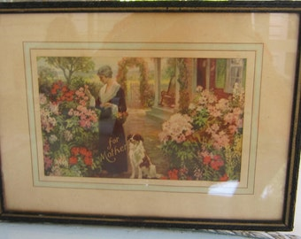 "Vintage Mother's Day Print titled ""For Mother""  Just in time for her Day!"