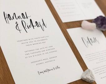 Printable Wedding Invitation | Minimalist, Simple, Romantic, Classic  | BROOKLYN SUITE