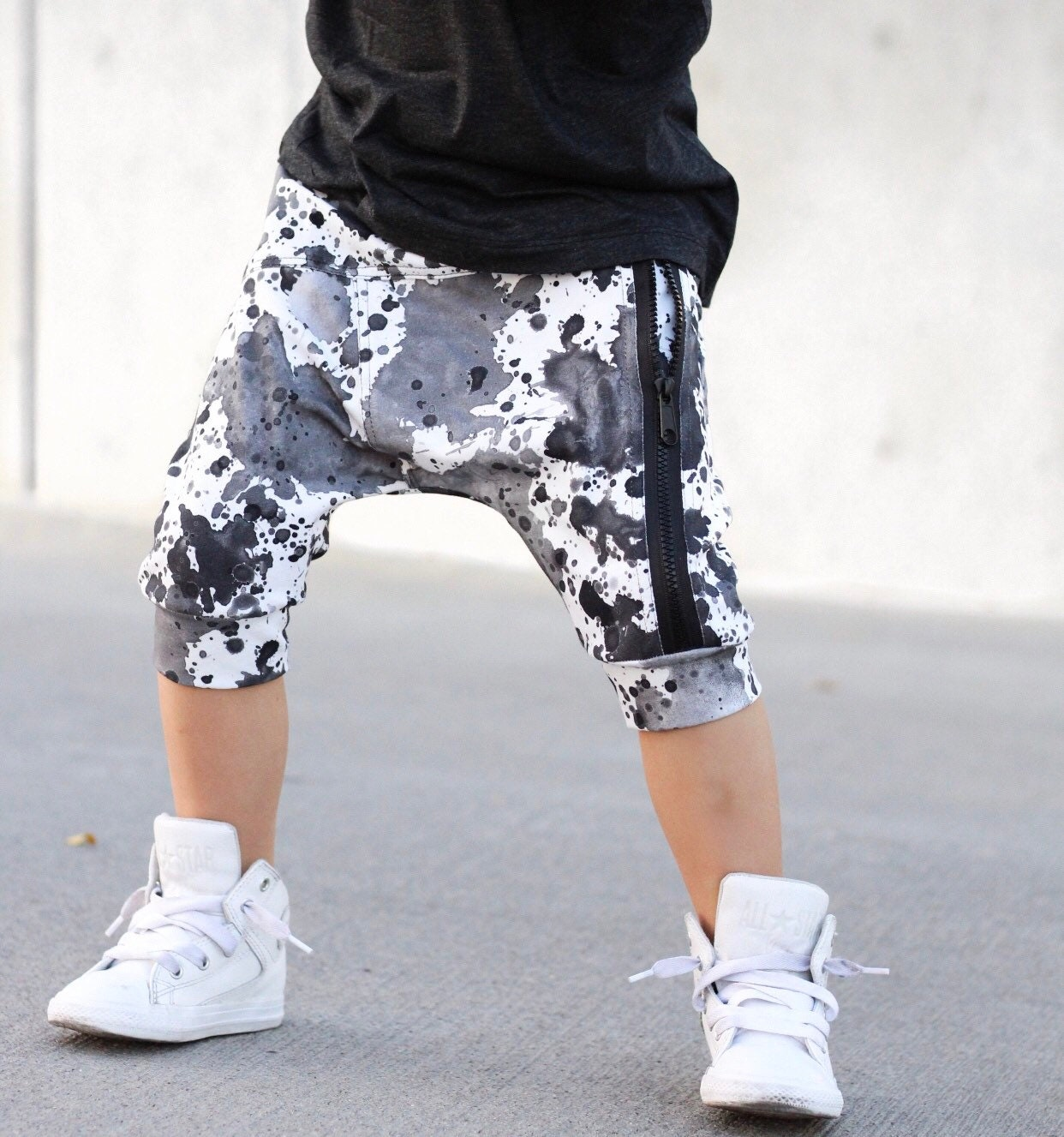 3d2daa3f7391 Charcoal toddler harem shorts   Hipster baby boy shorts