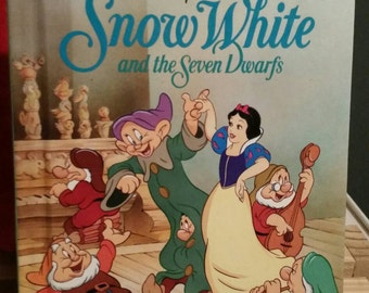 Snow White and the Seven Dwarfs/Vintage 1994 Disney's Wonderful World of Reading Book/Vintage Children's Books/Childs Gift/Walt Disney