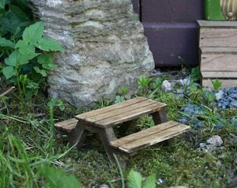 Miniature Fairy Picnic Table.