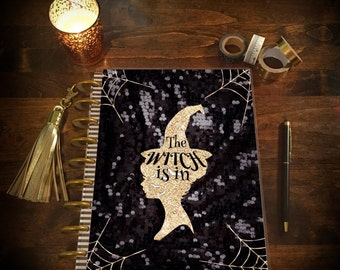 The Witch is in! Laminated Planner Cover for Erin Condren Life Planner, Plum Paper Planner, or Happy Planner