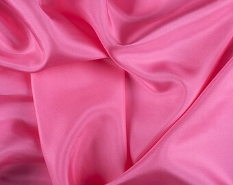 "45"" Wide 100% Silk Crepe de Chine Hot Pink By the Yard (1200M118)"