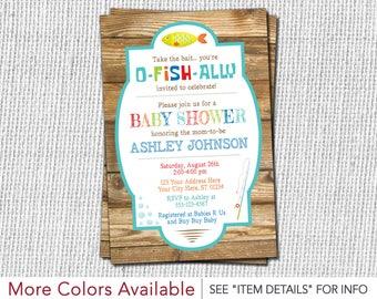 Fishing Baby Shower Invitation - Fishing Theme Invitation