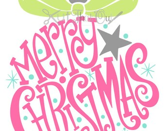 EXCLUSIVE Merry Christmas Ornament  SVG and DXF File