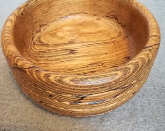 Tropical wood turned bowl