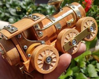 Steampunk - Eco-friendly gift for him - Train Stationery - Wagon Train -Train- Wooden - Handmade -Steampunk Vintage - Retro-Vintage train