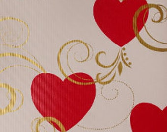 "30"" x 15' Foot Roll Embossed Valentines Day Gift Wrapping Paper - Swirling Hearts Pattern Gift Wrap"