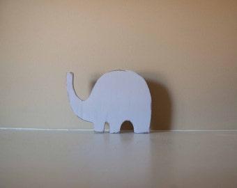 Elephant Nursery Decor, Wood Elephant, Elephant Figurine