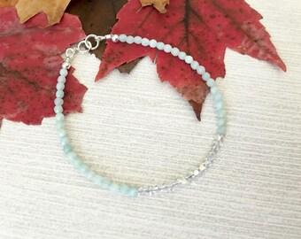Amazonite Thin Gemstone Bracelet