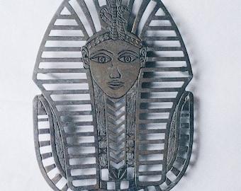 Vintage Leonard Silverplate King Tut Trivet