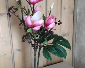 A composition of magnolias in vase