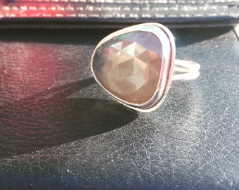 Rosecut Sapphire Ring - size 6.75