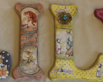 "11"" - 18"" Beatrix Potter- Letter Set - Customize Name, Colors and Characters!"