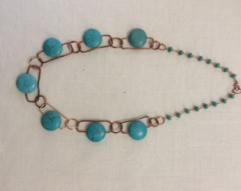 Statement  Necklace, Turquoise