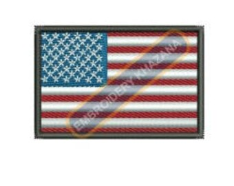 American flag embroidery design instant download
