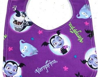 Vampirina Baby Bib - Infant Bib - Dribble Bib - Gothic Baby - Baby Shower Gift - vampire