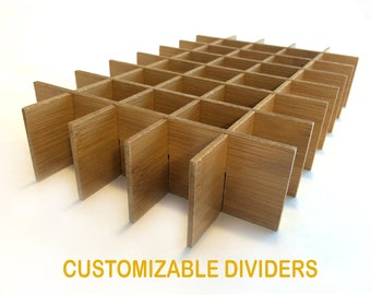 Customizable Dividers ~ Essential Oil Dividers for 15ml, 10ml and 5ml bottles ~ rack ~ storage ~box organizer