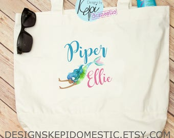 Tote Bag- Personalized- Mermaid