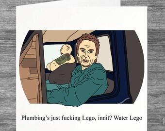 Peep Show   Super Hans   Birthday card   Greetings card   Water lego